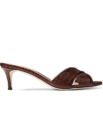 0cc1a24b7e510 Giuseppe Zanotti Felicia Croc-effect Leather Mules - Brown