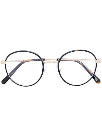 Stella McCartney Armação de óculos redonda - Marrom