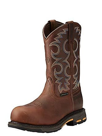 1550e0d4087 Ariat Womens Workhog Composite Toe Work Boot Nutty Brown Size 11 B Medium Us