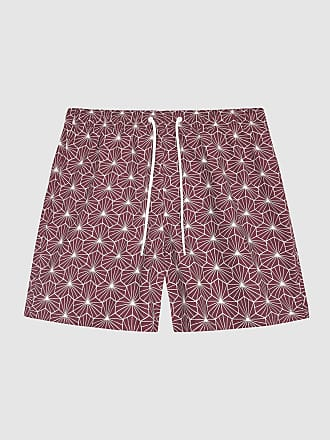 2a3f048882 Reiss Disco - Printed Swim Shorts in Bordeaux, Mens, Size XXL