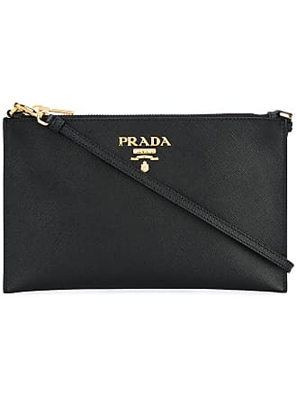 Prada logo plaque clutch bag - Black 125c313ec302c