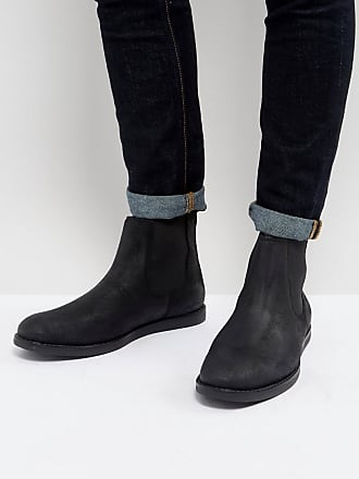 Original Penguin London Chelsea Boots In Black - Tan