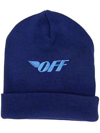 Off-white logo print beanie hat - Azul