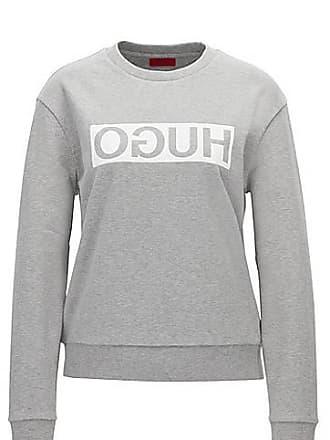HUGO BOSS Relaxed-Fit Pullover aus Baumwolle mit spiegelverkehrtem Logo 59d5d666b3