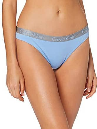 4a7a7128e89bac Calvin Klein Thong Mutandine, Blu (Sensory Blue 7Vq), L Donna