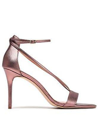 651837253aa305 Halston Heritage Halston Heritage Woman Evie Metallic Leather Sandals Rose  Gold Size 10.5