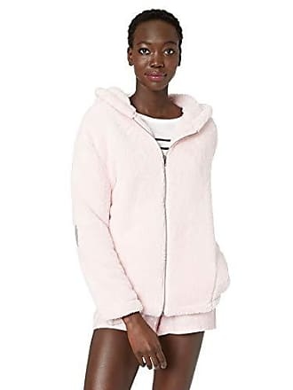 PJ Salvage Womens Lounge Zip Up Sweatshirt, Rose, Large