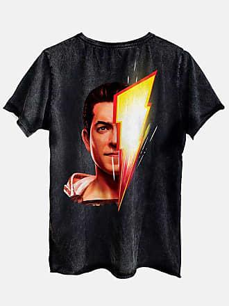 DC Comics Camiseta Shazam Face Oficial Masculina