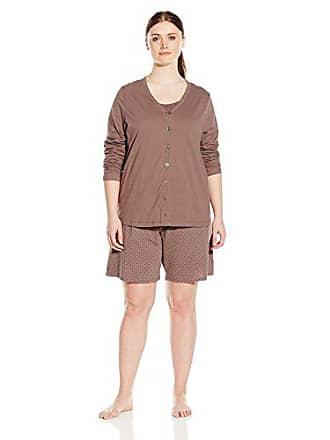 11a34c6ca1 Jockey Womens Plus Size 3 Piece Cotton Printed Bermuda Pj Set