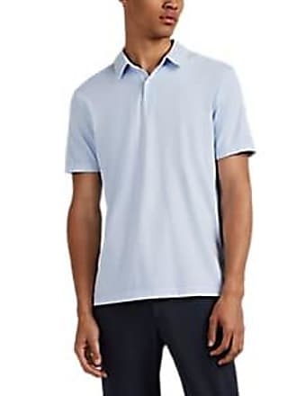 edcb6a19 James Perse Mens Sueded Cotton Jersey Polo Shirt - Blue Size M