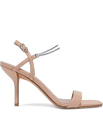 Diane Von Fürstenberg Frankie Embellished Leather Sandals - Blush