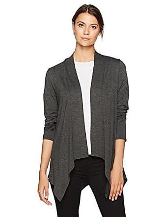 874551e441 AGB Womens Hanky Hem Open-Front Cozy Cardigan Sweater