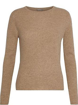 N.Peal N.peal Woman Ribbed Cashmere Sweater Tan Size XL