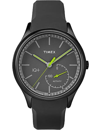Timex Watch Mens Iq+ Move 41MM Silicone Strap Black Item Tw2P95100F5