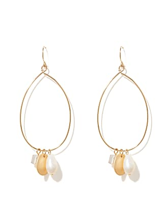 Forever New Abigail Disc and Bead Jingle Hoop Earrings - Gold - 00