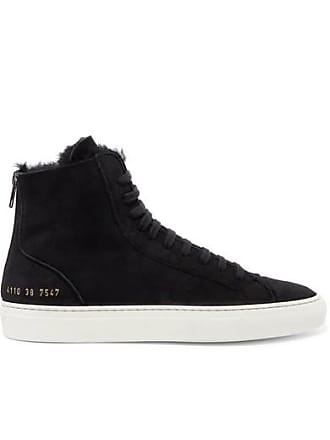 28839a96ccc1 Common Projects Tournament Shearling-lined Suede High-top Sneakers - Black