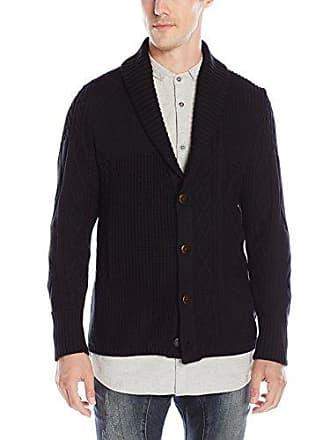 Zanerobe Mens Harlem Knit Cardigan Sweater, Black, XX-Large
