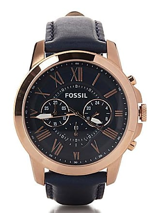 Fossil Grant rose gold watch