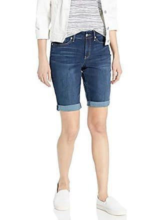 2b795ef1c8 NYDJ Womens Petite Briella Roll Cuff Jean Short in Cool Embrace Denim,  junipero, 10P