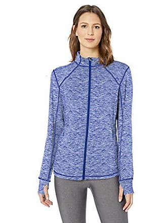 Amazon Essentials Womens Brushed Tech Stretch Full-Zip Jacket, Blue Space dye, X-Large