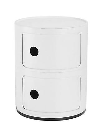 Kartell Componibili 2 Container matt - weiß/matt/H x Ø 40x32cm