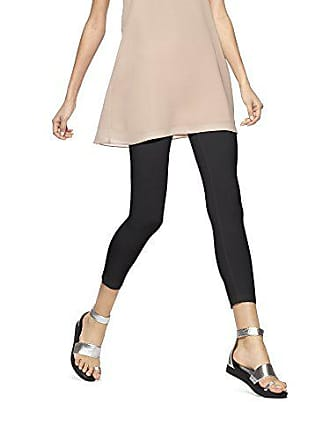 Hue Womens Ultra Capri Leggings with Wide Waistband, Black, S