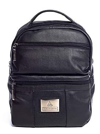 Vira Vento Mochila masculina dois bolsos em couro legítimo preta