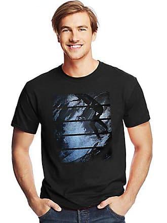 Hanes Mens Surfer Stripes Graphic Tee 2XL