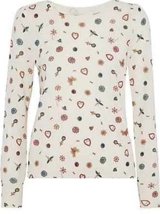 Joie Joie Woman Abilene Printed Cashmere Sweater White Size S