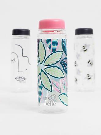 Sass & Belle water bottle in leaf print-Multi