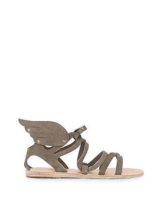 Ancient Greek Sandals NEPHELE Suede Winged sandals Crosta Elephant
