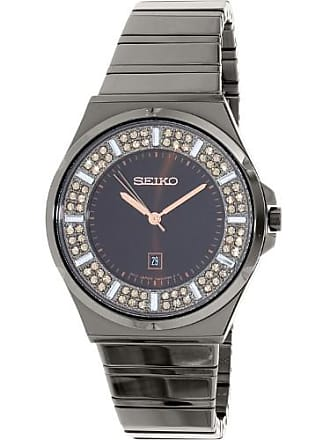 Seiko Womens SXDG35 Gunmetal Stainless-Steel Quartz Watch