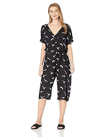 Body Glove Womens Jamael Rayon Cover Up Jumpsuit, Black, Small
