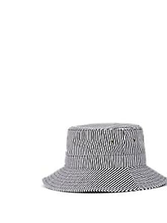8178739aeec7da FiveSeventyFive Womens Striped Cotton-Blend Twill Bucket Hat - Navy