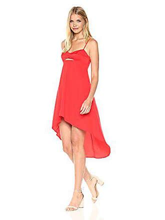 Bcbgmaxazria BCBGMax Azria Womens Sabryna Woven Bustier Dress with Cutout, Scarlet, 0