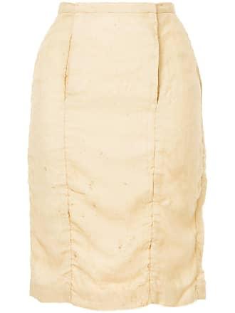 Uma Wang midi straight skirt - Brown