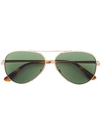 27a9940ad2 Saint Laurent Eyewear Green Classic 11 aviator sunglasses - Metallic