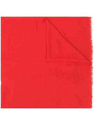 M Missoni embroidered logo scarf - Vermelho