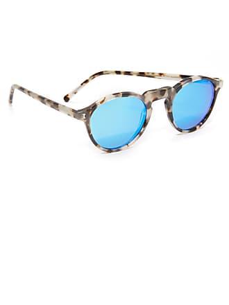 4fa08cc2559 Illesteva Capri Sunglasses - White Tortoise Blue Mirror