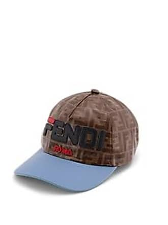 c4a62f43bfe Fendi Mens Fendi Mania Coated Canvas Baseball Hat - Brown