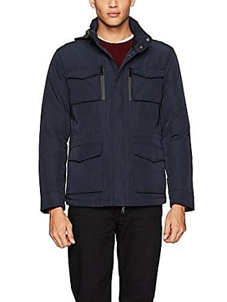 Bugatchi Mens Water Resistant Reversible Jacket, Navy Small