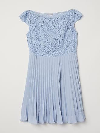 H&M H & M+ Pleated Dress - Blue