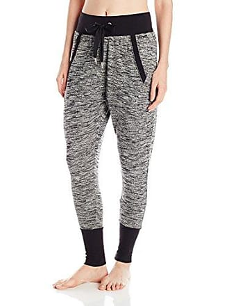 2(x)ist Womens Micro French Terry Harem Pant, Black, Large