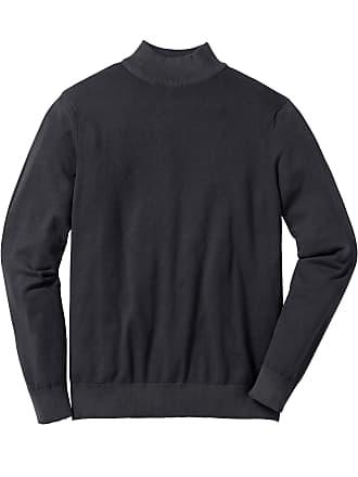 43d0f7820492f Bonprix Bonprix - Pull col montant en fine maille Regular Fit noir manches  longues pour homme