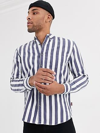 Bershka Camicia a righe verticali blu e bianche