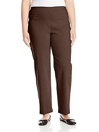 Ruby Rd. Womens Plus-Size Pull-on Solar Millennium Tech Super Stretch Pant, Chocolate, 24W