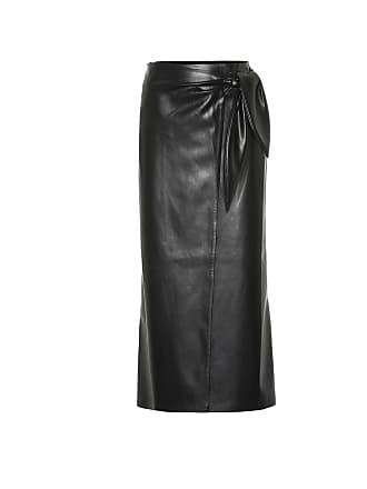 Nanushka Amas faux leather wrap skirt