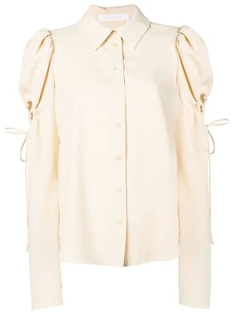 See By Chloé blouse with ruffle cut-outs - Neutrals