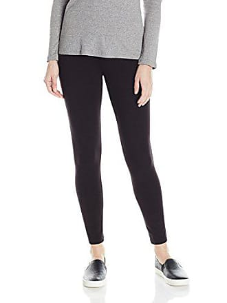 Hue Womens Temp Control Ultra Skimmer Leggings with Wide Waistband, Black, S