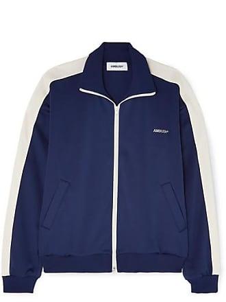AMBUSH Striped Satin-jersey Track Jacket - Navy